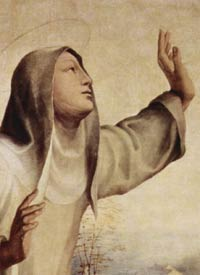 St. Catherine of Siena in a painting by Domenico Beccafumi